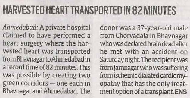 The Indian Express (Ahd)_CIMS (1st Heart transplant in Gujarat)_20.12.16_Pg 04