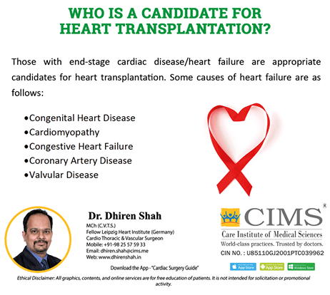 Who is a candidate for heart transplantation?