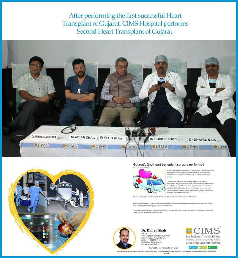 After Performing First Heart Transplant in Gujarat