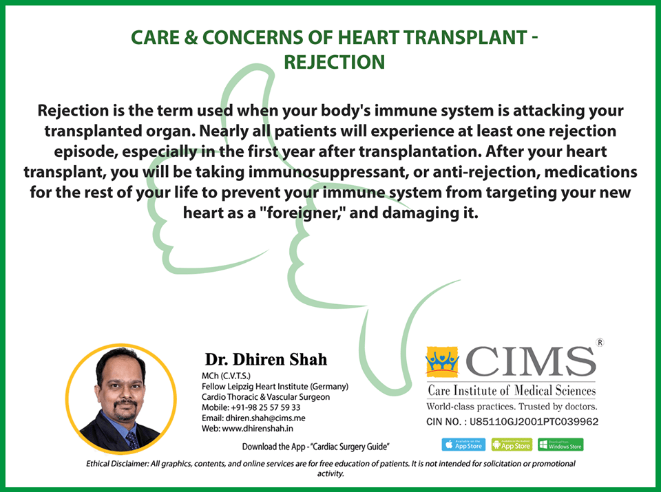 Care and Concerns of Heart Transplant