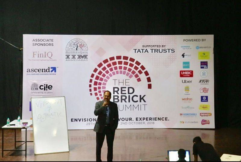 "Yesterday I had an opportunity to deliver a talk in ""The Red Bricks Summit"" by IIM Ahmedabad on Organ donation which a very well attended and organized event."