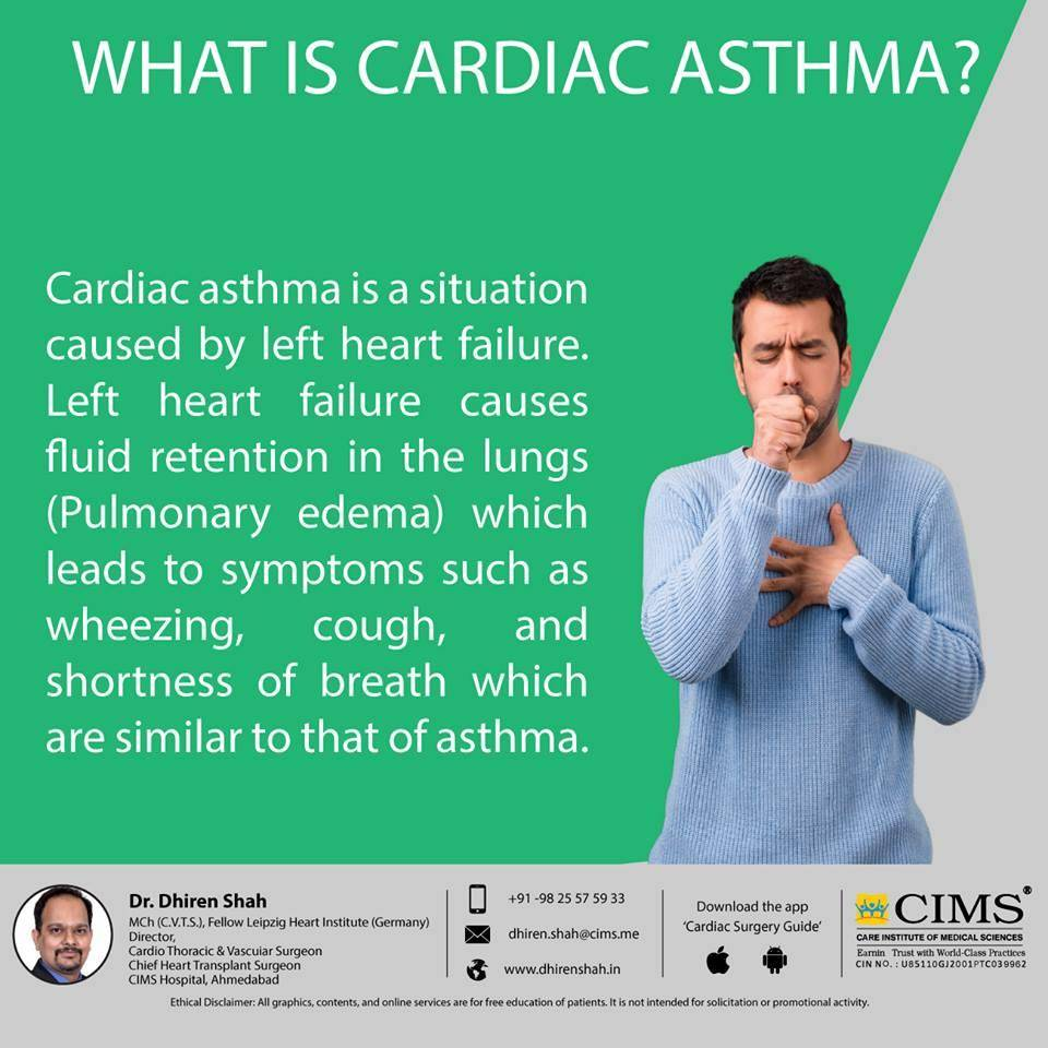 What is cardiac asthma?