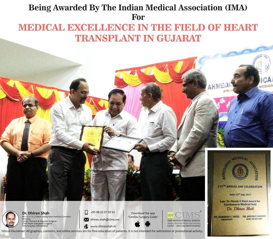 Being Awarded By the Indian medical association (IMA)