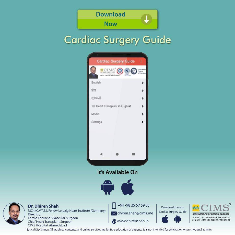 Download the Cardiac Surgery Guide app on your mobile today to know everything about cardiac surgery.