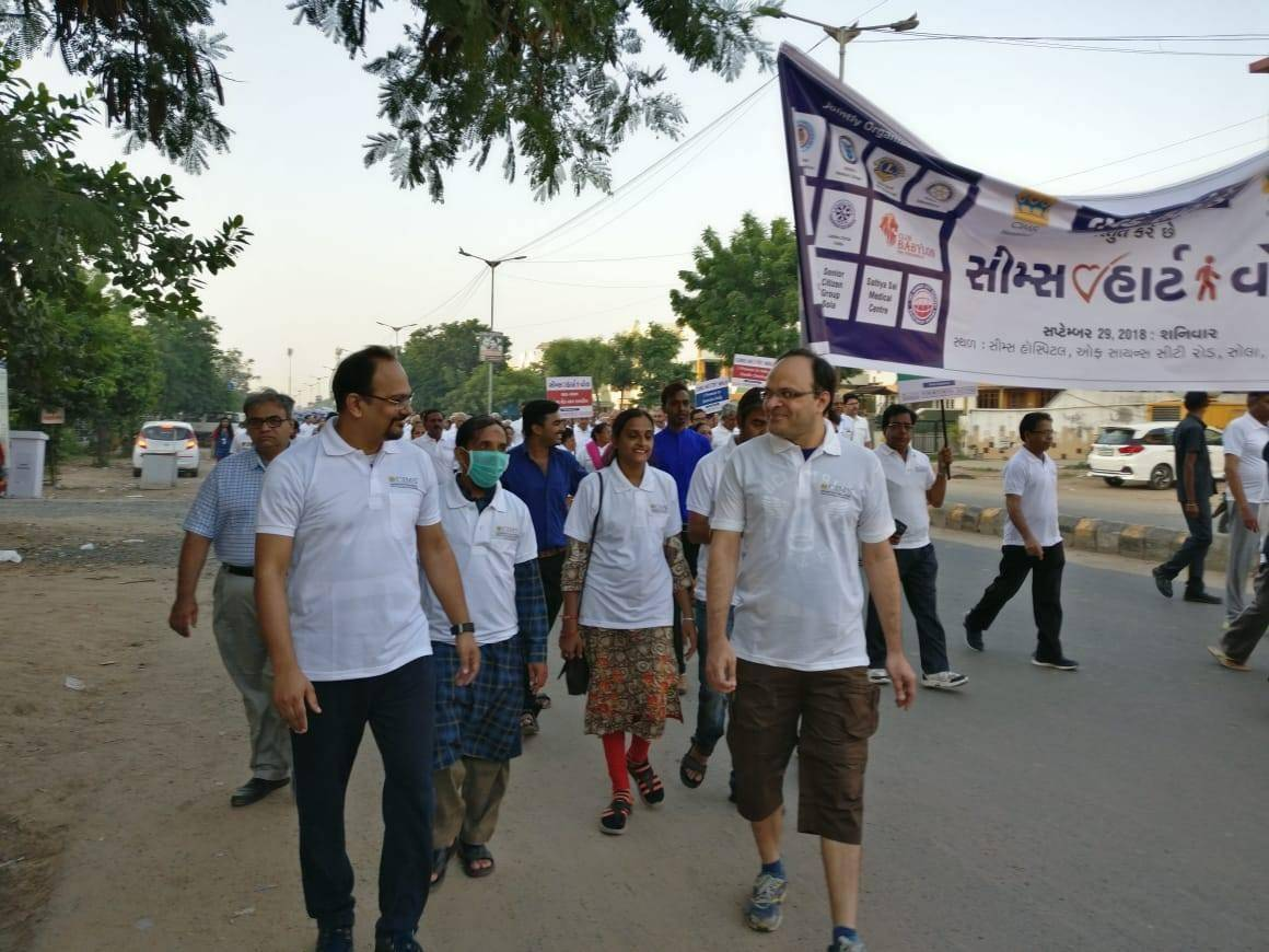 Today on the occasion of #WorldHeartDay we had CIMS Heart Walk and for the first time in #Gujarat