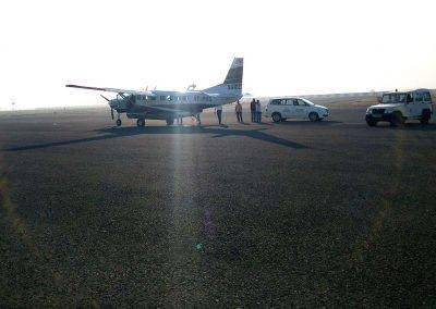 Aircraft waiting at Bhavnagar
