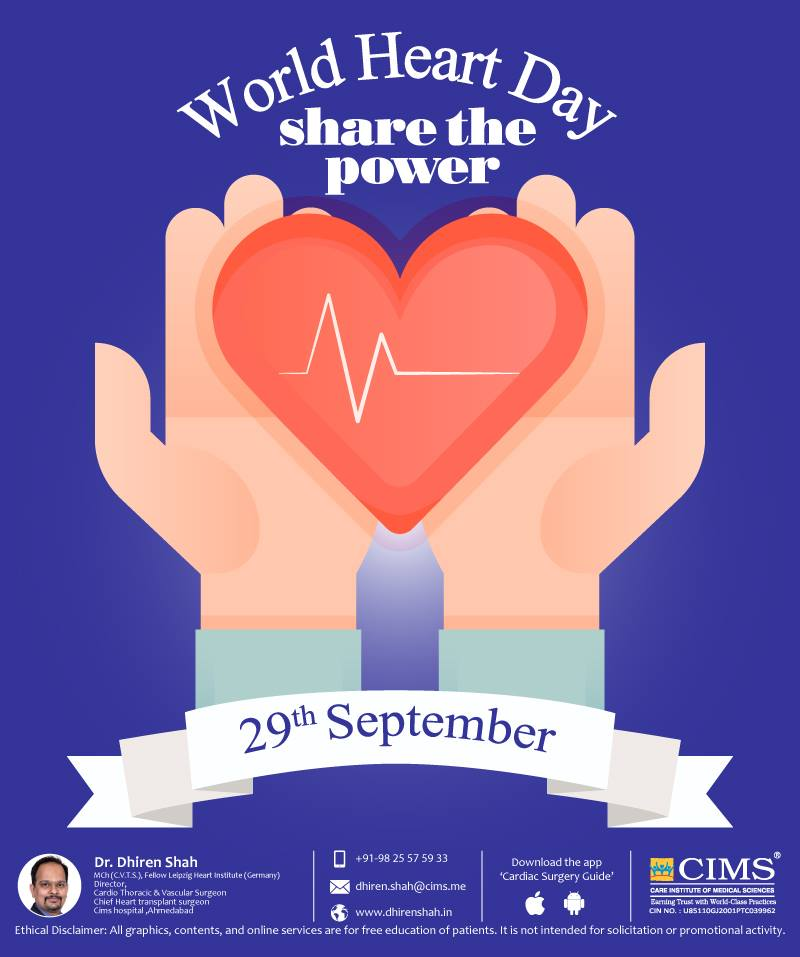 This World Heart Day: Look after your heart and your heart will look after you!