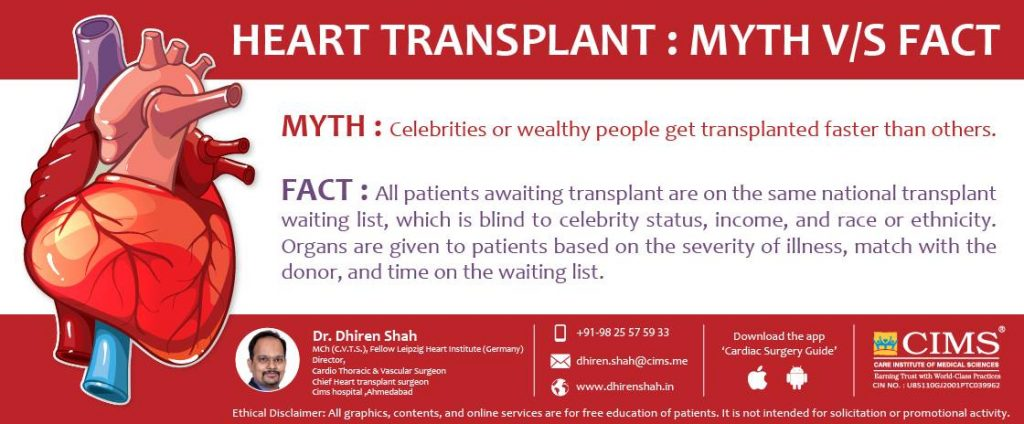 Myth and fact about heart transplant