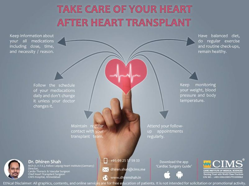 Take care of your heart after heart transplant!