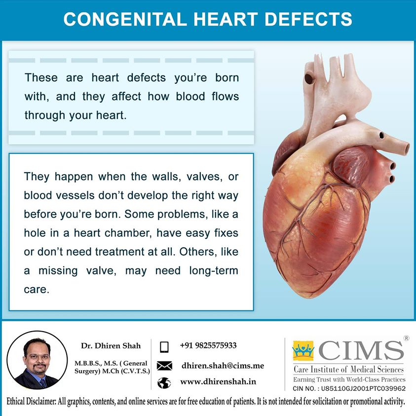 CONGENITAL HEART DEFECTS.