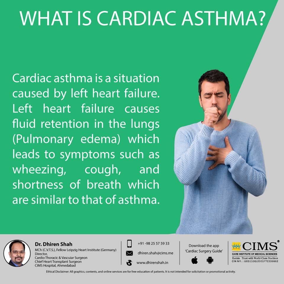 What is cardiac asthma ?