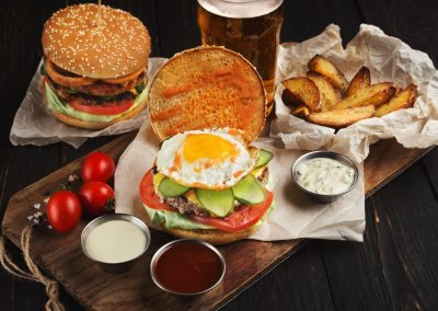 High levels of cholesterol in a meal